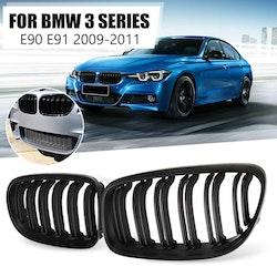 Grill till BMW 3-serien, 1 par mattsvart