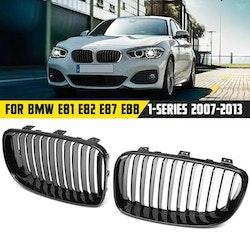 Grill till BMW 1-serien, 1 par blank