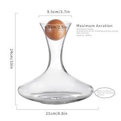 Vinkaraff i kristallglas 2000ml