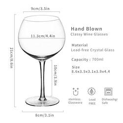 Cocktail/Ginglas i 2-delar, 700ml kristall
