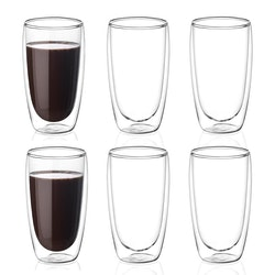 Dubbelväggade glas 400ml, 6-delar