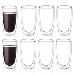 Dubbelväggade glas 400ml, 8-delar