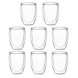 Dubbelväggade glas 350ml, 8-delar