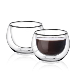 Dubbelväggade glas 263ml, 2-delar