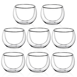 Dubbelväggade glas 263ml, 8-delar