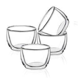 Dubbelväggade glas 93ml, 4-delar