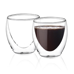 Dubbelväggade glas 200ml, 2-delar