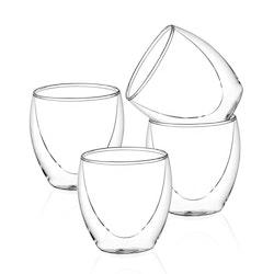 Dubbelväggade glas 200ml, 4-delar