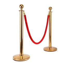 Köstolpar med rep, rostfritt stål guld