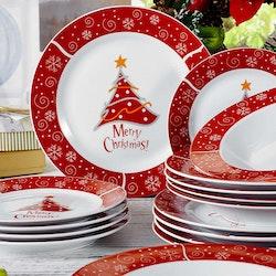 VEWEET Christmastree, tallrik set 36-delar