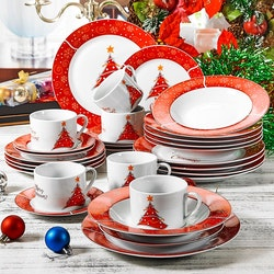 VEWEET Christmastree, servis set 30-delar