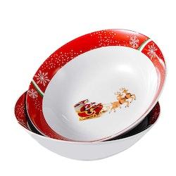 VEWEET CHRISTMASDEER, skål set 2-delar
