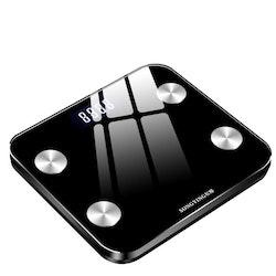 Smart bluetooth kroppsvåg, svart.