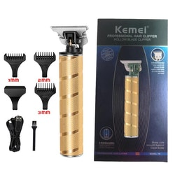 Kemei (KM-T9) rakapparat med tillbehör, guld