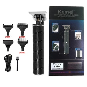Kemei (KM-T9) rakapparat med tillbehör, svart