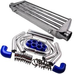 550x180x65mm Inter + 2,5 64mm laddluftkylare Turbo Piping pipe Satser