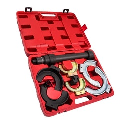 Utbytbara Fork Strut Coil Spring Compressor Extractor Tool Set Kit AMD