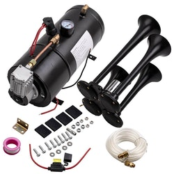 4 Trumpet Chrome tåg luft horn kit med 150 psi 3L 12v trumpet Horn kompressor