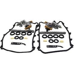 Komplett Set kamkedjan Tensioner packningssats till Audi A6 VW V8 4.2L 2000-2004