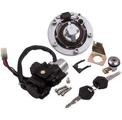 CSR  Suzuki GSXR750 GSX650 SFV650 Ignition Switch Seat Fuel Gas Cap Lock Key