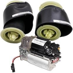 BMW 5-serie F07 F11 F18 Suspension Pump Kompressor + Air Suspension Bag
