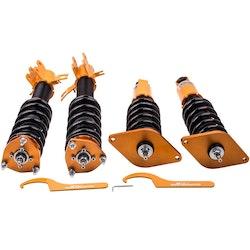 Nissan Sentra B15 2000-2006 24 Ways Sänkning Coil Spring Shocks Kit Coilover