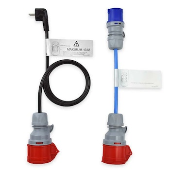 Adapter set 16A 3-fas