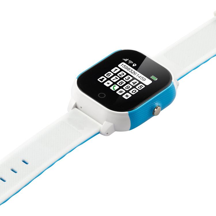 GW-700S Vattentät Mobilklocka med GPS -Vit/Blå