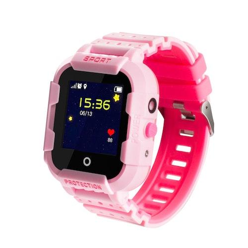 KT03 Robust Vattentät Mobilklocka med GPS -Rosa