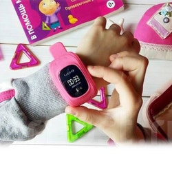 Mobilklocka Q50 med GPS funktion Svart