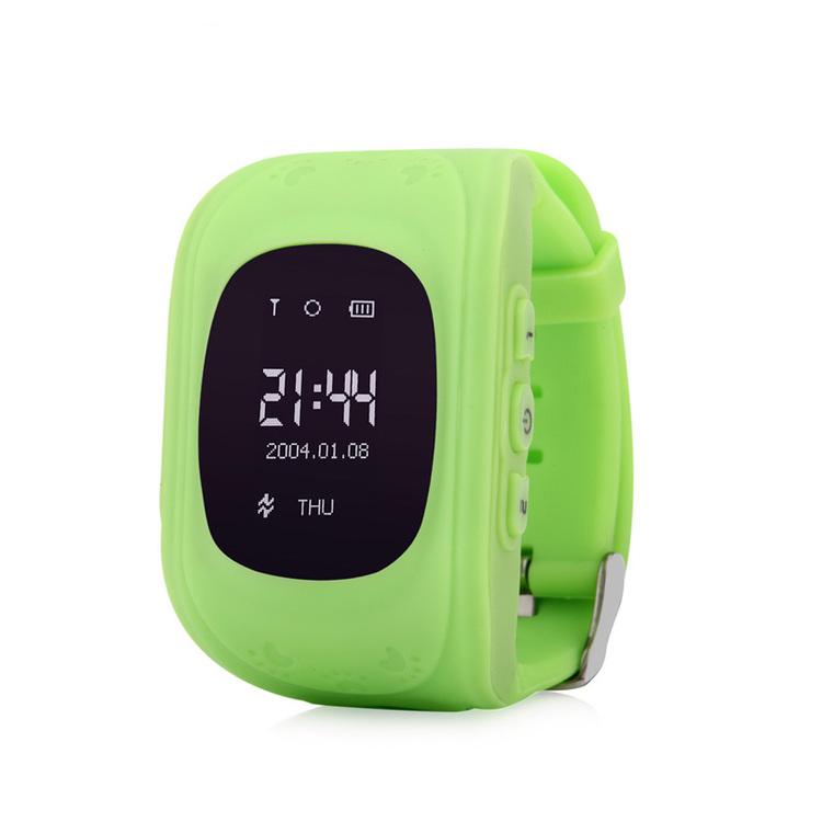 Mobilklocka Q50 med GPS funktion Grön