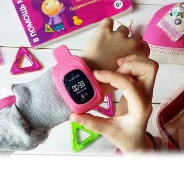 Mobilklocka Q50 med GPS funktion för barn -Rosa