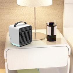 Portabel mini AC med inbyggt batteri, vattenkylning & negativa joner