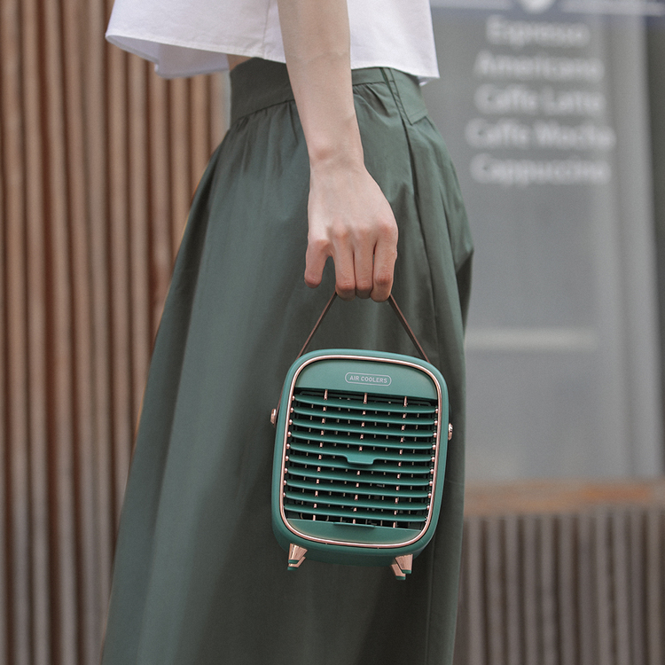 Portabel mini AC med inbyggt batteri, vattenkylning & sval ångfunktion (10-12kvm)