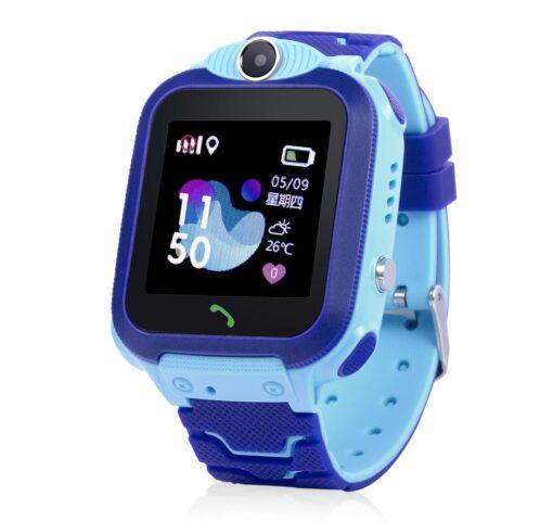 GW600S Vattentät Mobilklocka med GPS - Blå