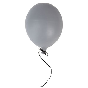 Ballongdekoration Grå Stor