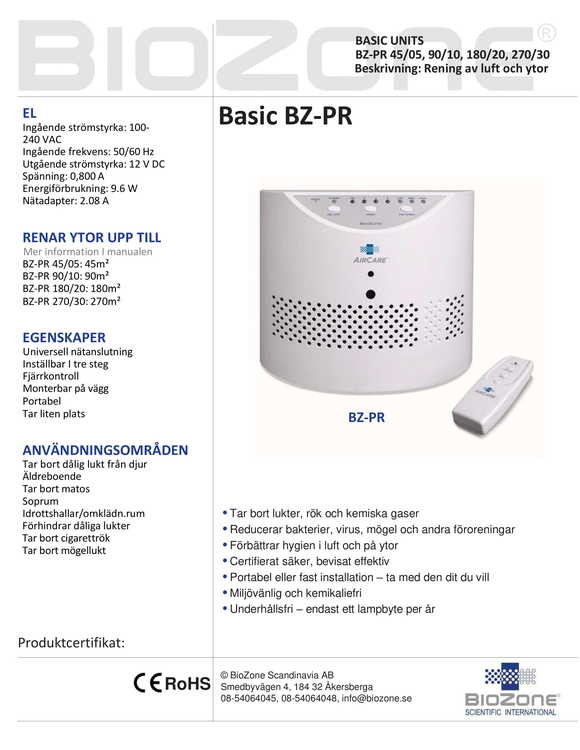Biozone Basic BZ-PR90