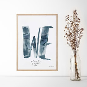 "Handkalligraferat ""WE""-print"