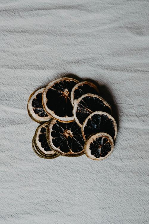 Torkade citronskivor