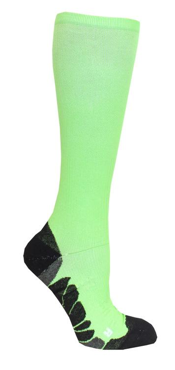 Kompressionsstrumpa för löpning och sport - korallrosa eller limegrön