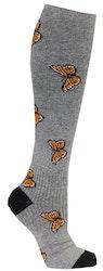 Stödstrumpa med gula fjärilar - Zent Medical