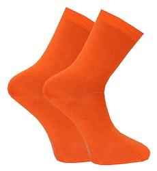 Tunn skön ullstrumpa i orange 2-pack