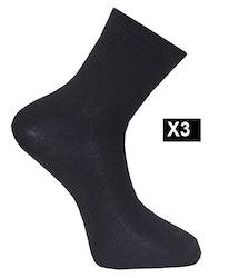Ullsocka liner 3-pack, svart