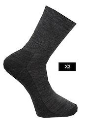 Ullsocka liner 3-pack, grå