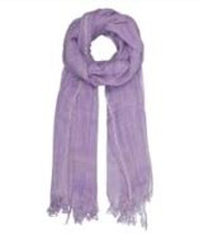 BASIC WOOL SCARF - LILAC