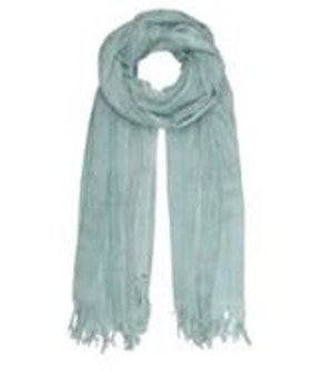 BASIC WOOL SCARF - SURF BLUE