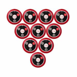 10-Pack Extra ring knappar till anropssystem för restauranger, caféer, pizzerior och serveringar