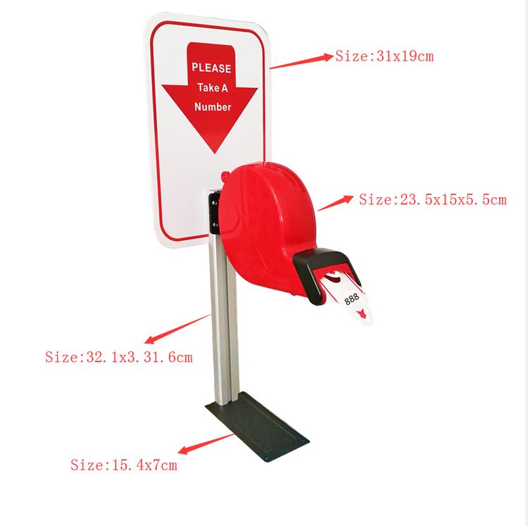 Kölapp Nummerlapp nummerautomat System för butiker, receptioner eller byråer