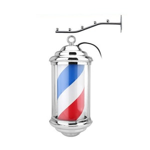 Barber Sign Pole Frisör Lampa 34CM
