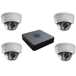 HiWatch by Hikvision 4x IP Kameror(IPC-D120) 2MP POE HD  +  4 Channel NVR 1TB(NVR-104-A/4P)
